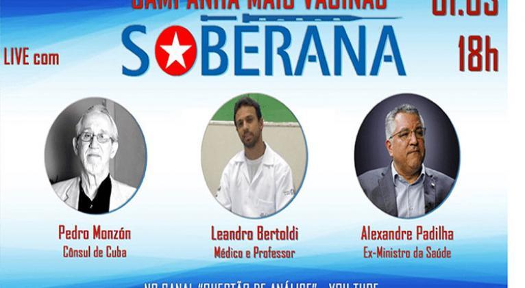 Campaña en Brasil para compra de vacuna antiCovid-19 de Cuba