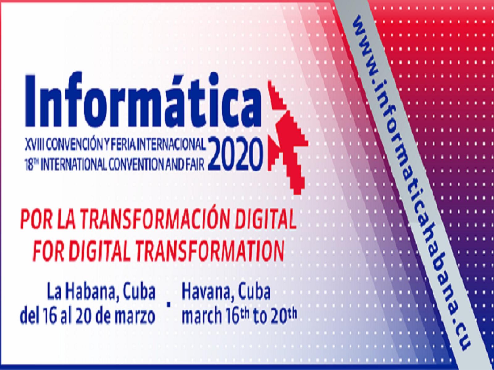 El evento se desarrollará entre el 16 al 20 de marzo de 2020, en el Palacio de Convenciones de La Habana y en el recinto ferial Pabexpo. (Foto: Tomado de informaticahabana.cu).