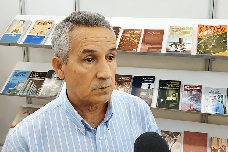 Juan Rodríguez, presidente del Instituto Cubano del Libro