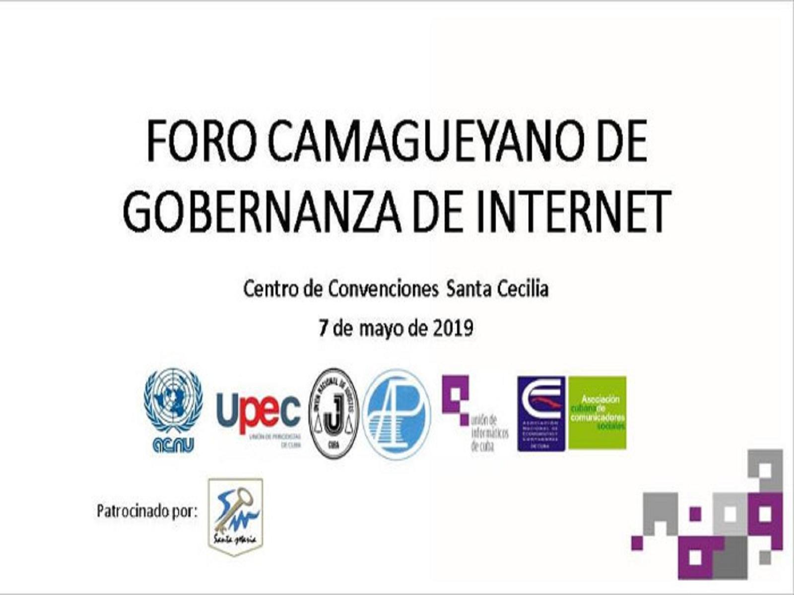 magen: Tomada de evento Foro Camagüeyano de Gobernanza de Internet, en Facebook