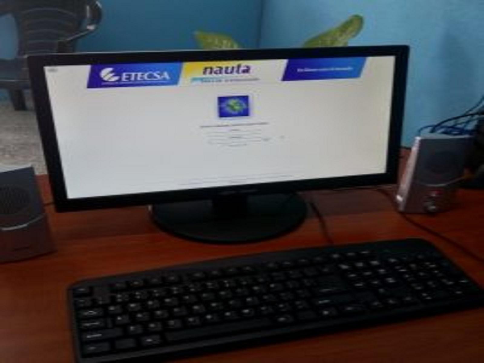Sala de navegación en sede de Citmatel en Cienfuegos