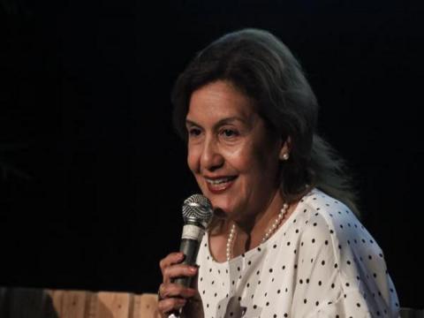 Intervención de Elba Rosa Pérez Montoya, Ministra de Ciencia, Tecnología y Medio Ambiente (CITMA), en el simposio por el Aniversario 30 de la Expedición del Amazonas al Caribe, en el Museo Nacional de Bellas, en La Habana, Cuba. ACN FOTO/ Ariel LEY ROYER