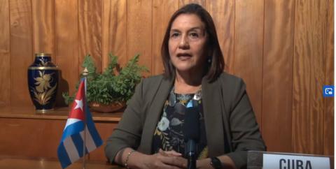 Elba Rosa Pérez Montoya, ministra cubana de Ciencia, Tecnología y Medio Ambiente.