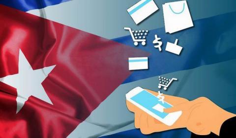 Banner alegórico al Comercio electrónico