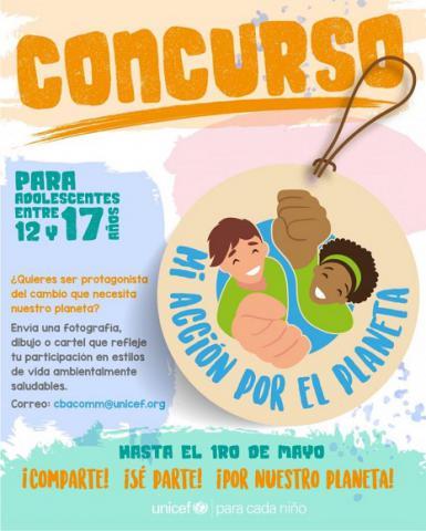 Convoca Unicef a concurso por el Día Mundial del Medioambiente