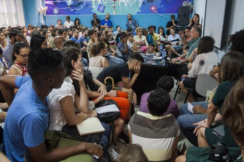 Carlos Scolari acaparó la atención durante una de las últimas jornadas de ICOM 2017. (Fernando Medina Fernández / Cubahora)