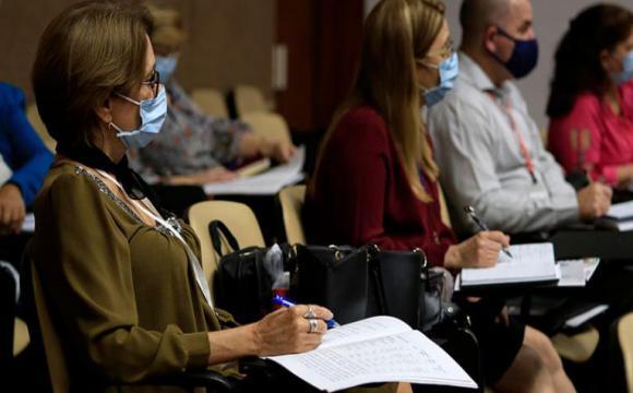 Integrantes del parlamento cubano