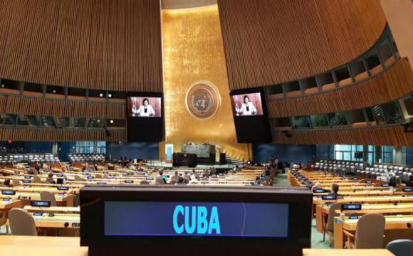 Denuncia ministra del CITMA ante la ONU el negativo impacto del bloqueo en el cumplimiento de Agenda 2030