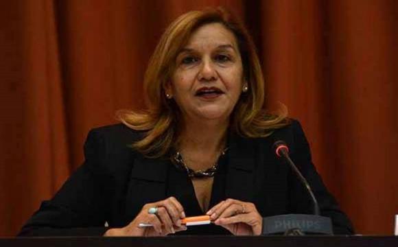 Ministra de Ciencias Tecnología y Medio Ambiente de Cuba, Elba Rosa Pérez